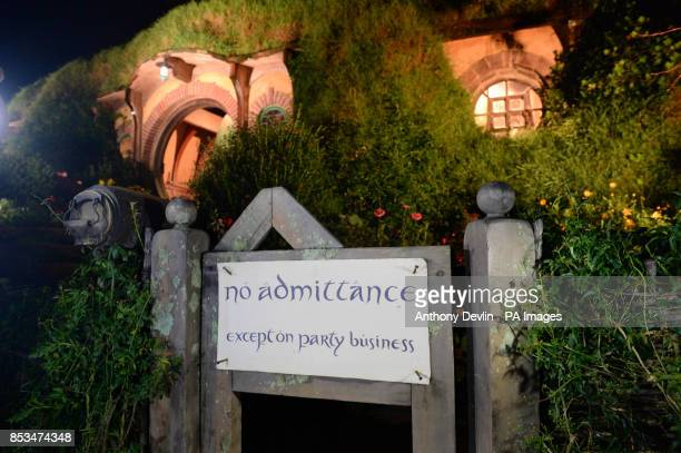 General view of Bag End in Hobbiton the film set for the Hobbit and Lord of the Rings near Hamilton New Zealand PRESS ASSOCIATION Photo Picture date...