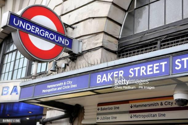 General view of Baker Street Tube Station in London