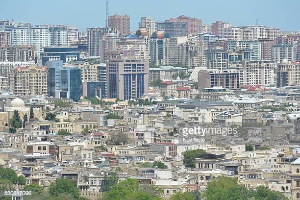General view of Baku center. On 9 May 2016, in Baku, Azerbaijan.