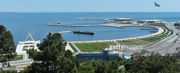 General view of Baku sea front. On 9 May 2016, in Baku, Azerbaijan.