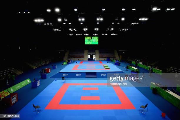 A general view of Baku Sports Hall ahead of Baku 2017 4th Islamic Solidarity Games on May 11 2017 in Baku Azerbaijan
