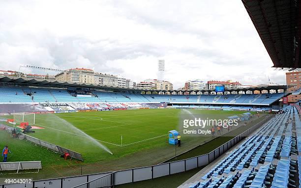 General view of Balaidos stadium ahead of the La Liga match between Celta Vigo and Real Madrid at Estadio Balaidos on October 24 2015 in Vigo Spain