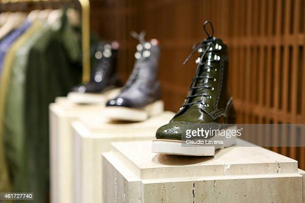 A general view of Bally presentation during the Milan Menswear Fashion Week/Fall Winter 2015/2016 on January 18 2015 in Milan Italy