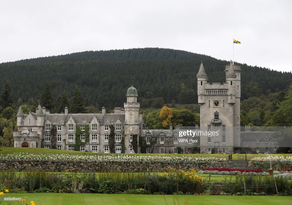 A general view of Balmoral Castle as Queen Elizabeth holds a private audience on September 20, 2017 in Aberdeen Scotland.