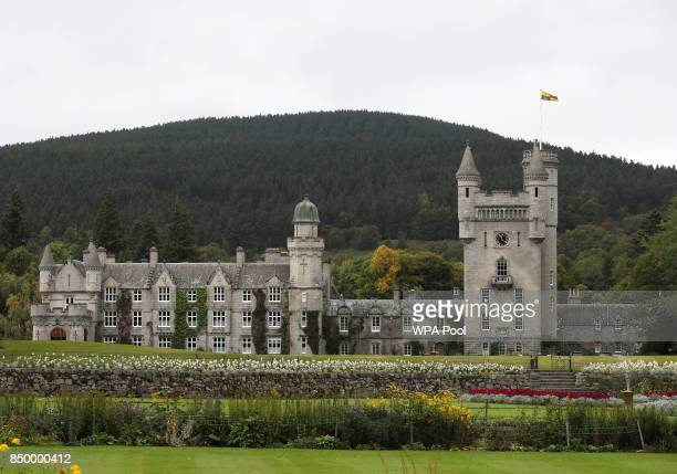A general view of Balmoral Castle as Queen Elizabeth holds a private audience on September 20 2017 in Aberdeen Scotland