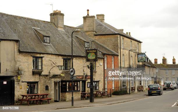 General view of Bampton Vilage in Oxfordshire. Bampton is changed into the fictional village of Downton a few weeks a year when filming of Downton...