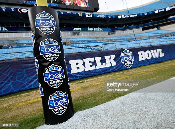 General view of Bank of America Stadium before the Belk Bowl between the Louisville Cardinals and the Georgia Bulldogs on December 30 2014 in...