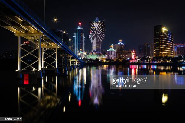 General view of Bank of China , Grand Lisboa and Casino Lisboa and Wynn Macau , is pictured in Macau on December 15, 2019.