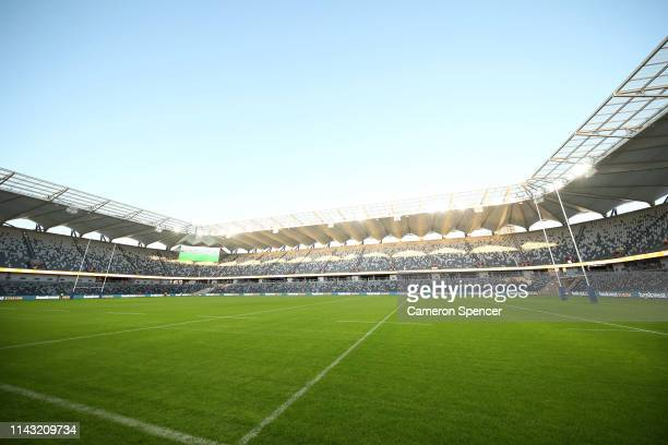 General view of Bankwest Stadium ahead of a Parramatta Eels NRL training and media session at Bankwest Stadium on April 17, 2019 in Sydney, Australia.