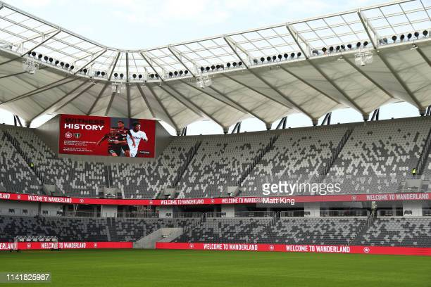 General view of Bankwest Stadium during a Western Sydney Wanderers A-League media opportunity at Bankwest Stadium on April 11, 2019 in Sydney,...