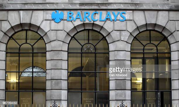 A general view of Barclays Bank Fleet Street branch on February 16 2010 in London England Shares in the bank increased today after announcing a...