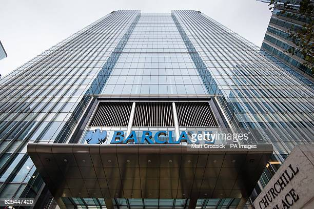General view of Barclays Bank's UK headquarters in Canary Wharf London The bank is one of several rumoured to be planning a move to Frankfurt after...