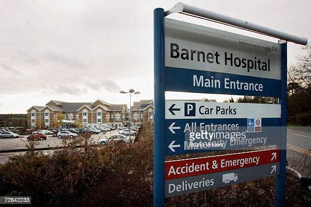 A general view of Barnet General Hospital where staff that came into close contact with Alexander Litvinenko are being tested for evidence of...