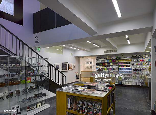 General view of basement book store Photographers' Gallery Art Gallery Europe United Kingdom O'Donnell and Tuomey and ADP