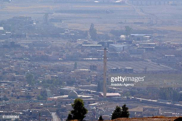 A general view of Bashiqa town is seen during the operation to retake Iraq's Mosul from Daesh in Mosul Iraq on October 19 2016 A much anticipated...