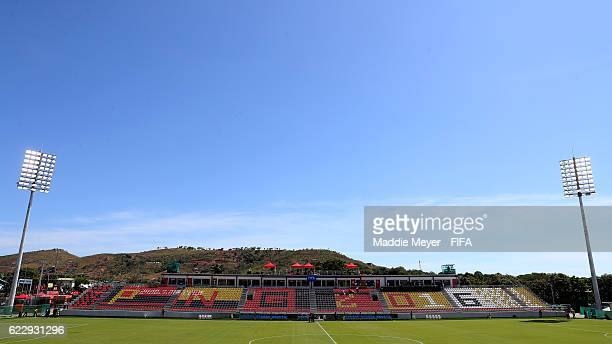 A general view of Bava Park before the Group B match between Spain and Canada during the FIFA U20 Women's World Cup Papua New Guinea 2016 on November...