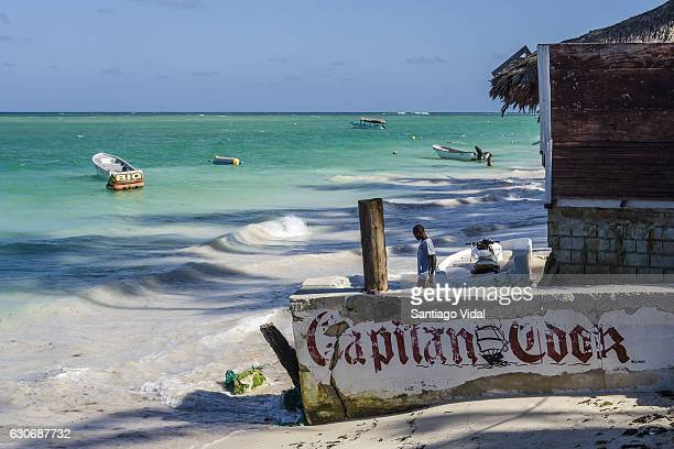 General view of Bavaro Beach El Cortecito on December 30 2016 in Punta Cana Dominican Republic