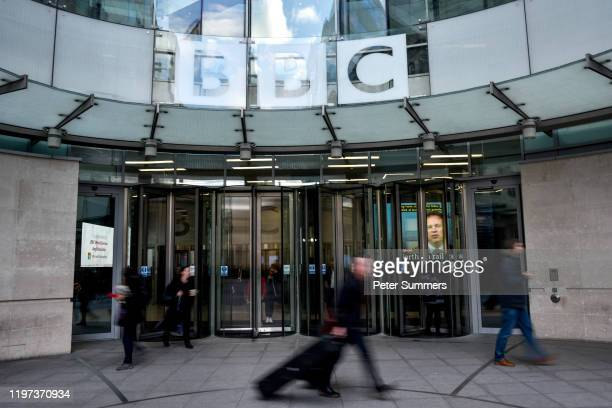 General View of BBC Broadcasting House on January 29, 2020 in London, England. The BBC announced today that it is to cut 450 jobs by 2022 in an...