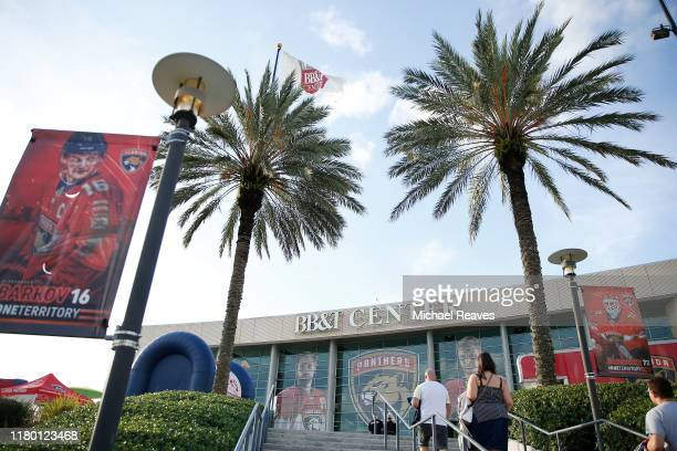 General view of BB&T Center prior to the game between the Florida Panthers and the Carolina Hurricanes on October 08, 2019 in Sunrise, Florida.