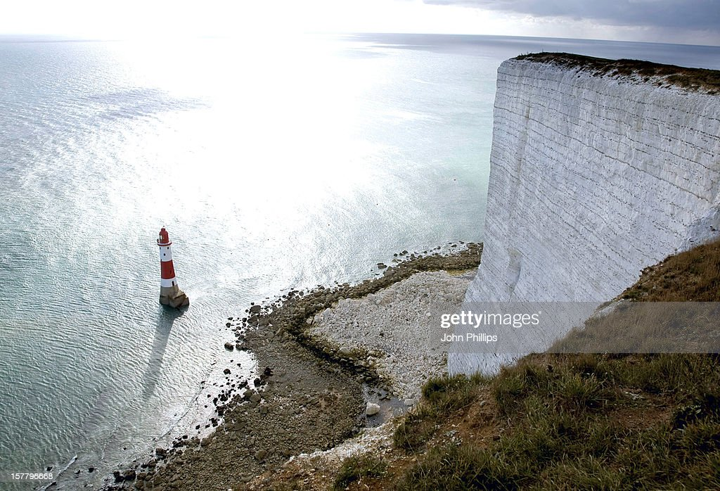 A General View Of Beachy Head Lighthouse Near Eastbourne, East Sussex.