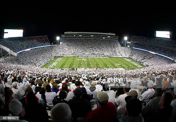A general view of Beaver Stadium during the game between the Ohio State Buckeyes and the Penn State Nittany Lions on October 25 2014 at Beaver...