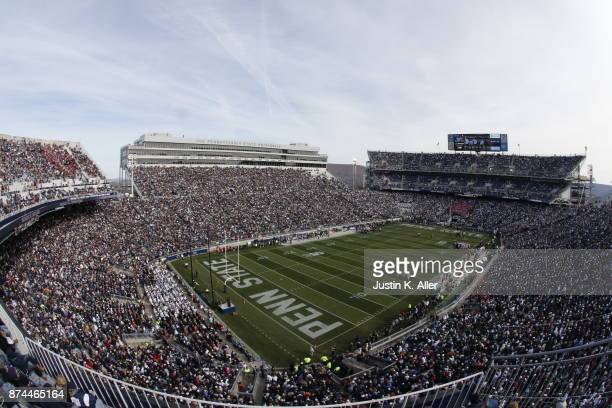 A general view of Beaver Stadium during the game between the Rutgers Scarlet Knights and the Penn State Nittany Lions at Beaver Stadium on November...
