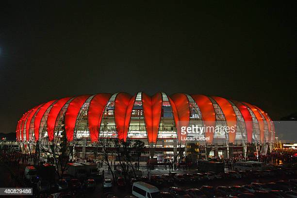General view of Beira Rio Stadium before the match between Internacional v Tigres as part of Copa Bridgestone Libertadores 2015 SemiFinals at Estadio...
