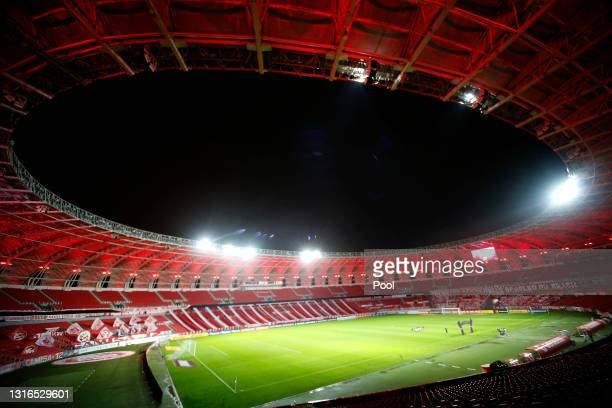 General view of Beira-Rio Stadium before a match between Internacional and Olimpia as part of Group B of Copa CONMEBOL Libertadores 2021 on May 05,...