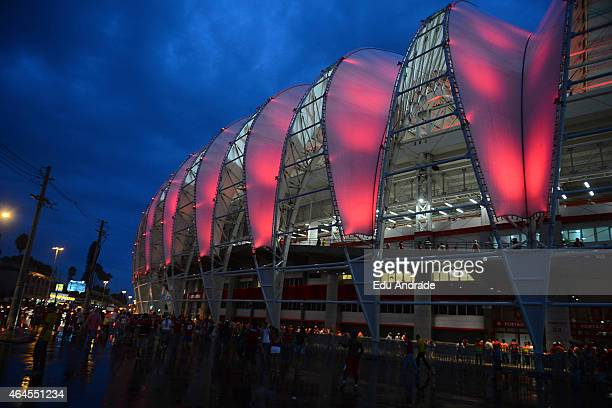 General view of BeiraRio Stadium before the match between Internacional and U de Chile as part of Copa Bridgestone Libertadores 2015 at BeiraRio...