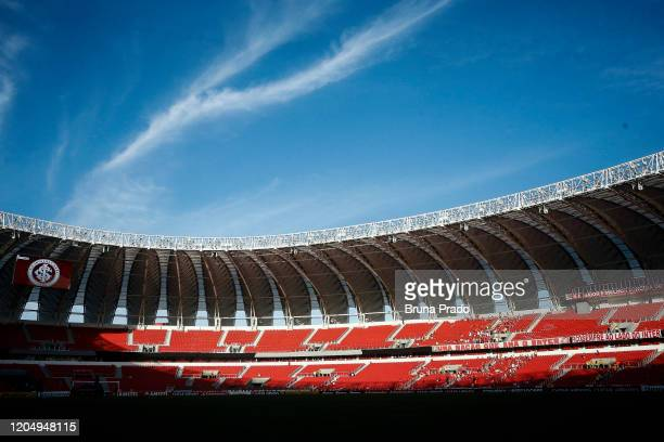 General view of Beira-Rio Stadium prior Group E match between Internacional and Universidad Catolica as part of Copa CONMEBOL Libertadores 2020 on...