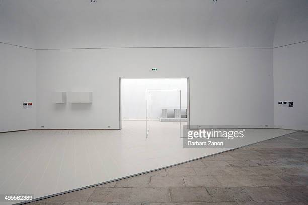 General view of Belgian Pavilion at Giardini during the opening of The 14th International Architecture Exhibition on June 4, 2014 in Venice, Italy.