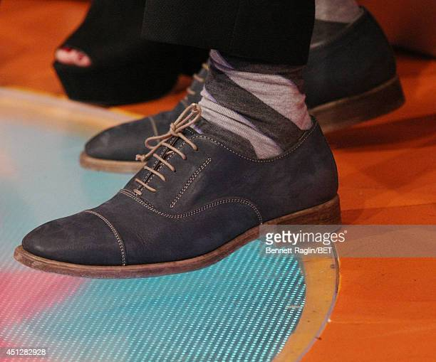A general view of Ben Falcone's shoes during 106 Park at BET studio on June 25 2014 in New York City