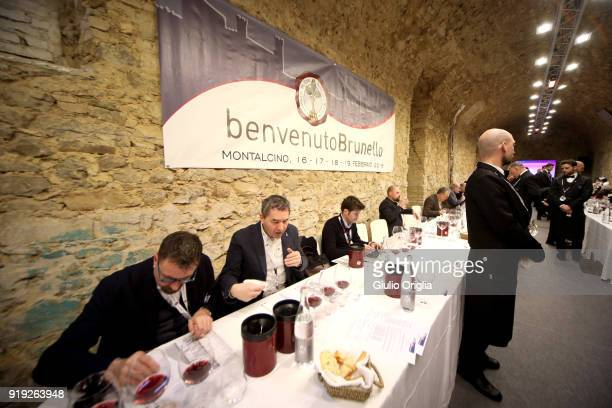 A general view of Benvenuto Brunello 2018 at Teatro degli Astrusi on February 17 2018 in Montalcino Italy