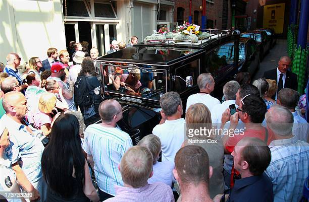 A general view of Bernie Nolan's funeral at Grand Theatre on July 17 2013 in Blackpool England