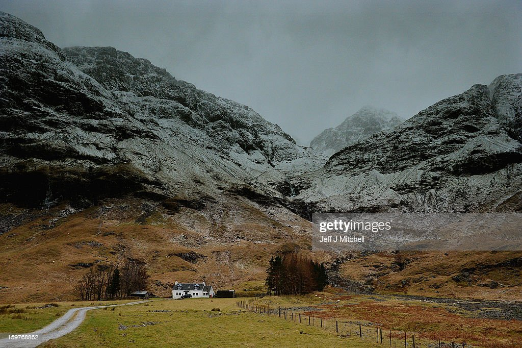 A general view of Bidean Nam Bian on January 20,2012 in Glencoe, Scotland. Four climbers were killed yesterday following an avalanche on Bidean Nam Bian in Glencoe. A party of six, three men and three women were descending close to Church Door Buttress when the snow slope broke away.