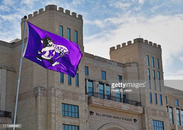 General view of Bill Snyder Family Football Stadium, prior to a game between the Kansas State Wildcats and Baylor Bears on October 5, 2019 in...