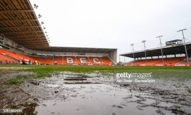 A general view of Bloomfield Road home of Blackpool FC during the Sky Bet League One match between Blackpool and Shrewsbury Town at Bloomfield Road...