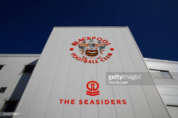 General view of Bloomfield Road, home of Blackpool Football Club, is seen as football in England remains suspended due to Covid-19 on March 25, 2020...