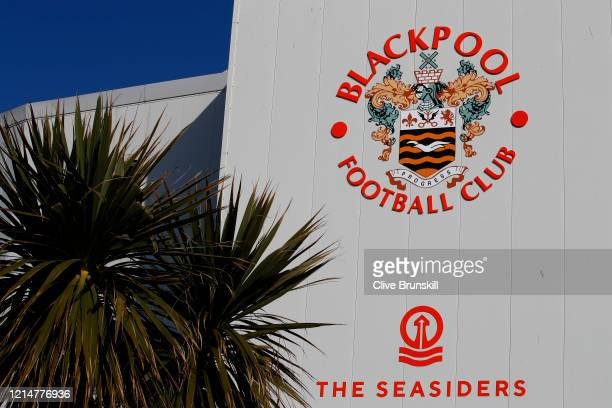 A general view of Bloomfield Road home of Blackpool Football Club is seen as football in England remains suspended due to Covid19 on March 25 2020 in...