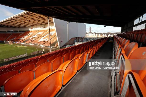 A general view of Bloomfield Road home of Blackpool Football Club during the Sky Bet League One match between blackpool and Barnsley at Bloomfield...