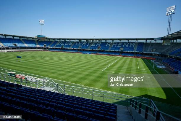 General view of Blue Water Arena prior to the Danish Superliga match between Esbjerg fB and Vendsyssel FF at Blue Water Arena on July 21 2018 in...
