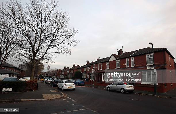 General view of Bluestone Road in Moston, Manchester, where four people were attacked by an American Bulldog-type dog.