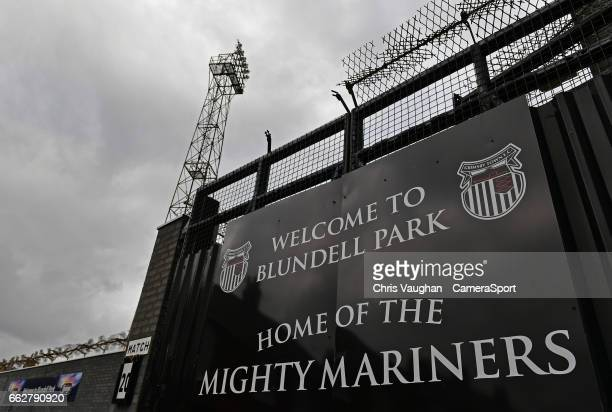 General view of Blundell Park, home of Grimsby Town prior to the Sky Bet League Two match between Grimsby Town and Doncaster United at Blundell Park...