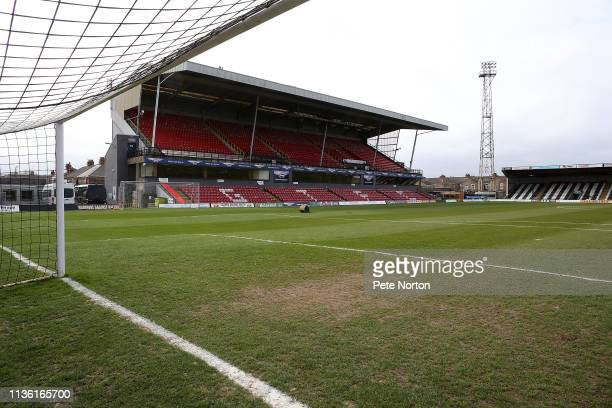 General view of Blundell Park priorto the Sky Bet League Two match between Grimsby Town and Northampton Town at Blundell Park on March 16, 2019 in...