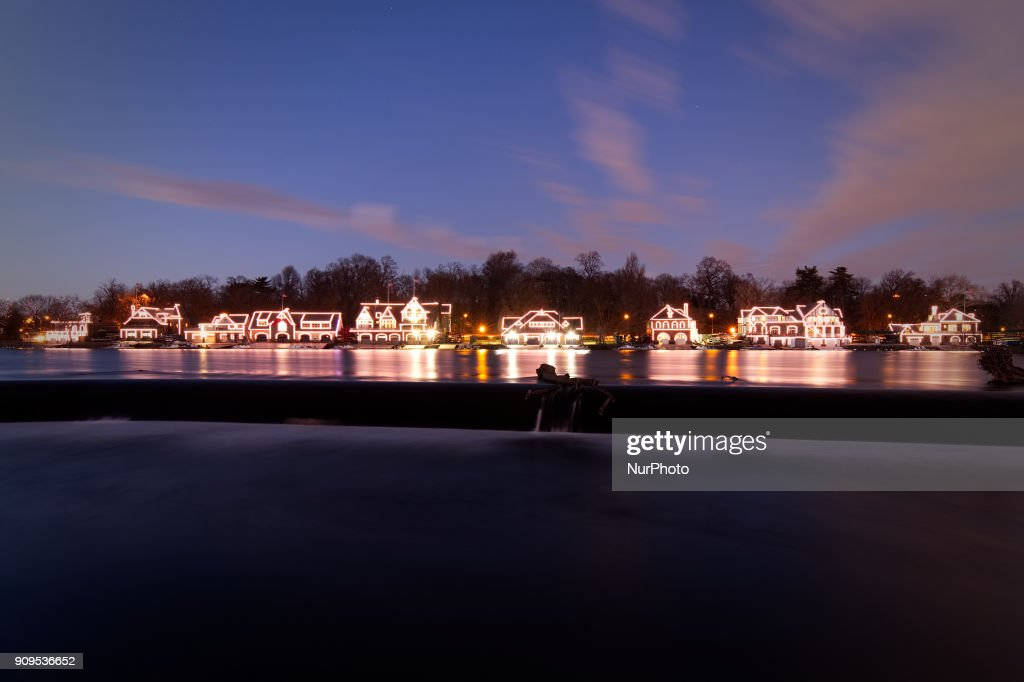 Philadelphia Boathouse Row in Eagles Green