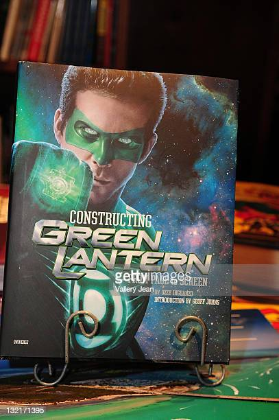 General view of book on display during Ozzy Inguanzo discussion and book signing Constructing Green Lantern at Books and Books on June 25 2011 in...