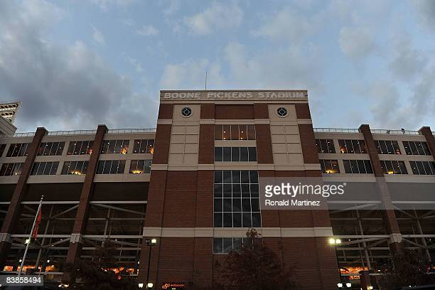 General view of Boone Pickens Stadium as seen before a game between the Oklahoma Sooners and the Oklahoma State Cowboys on November 29, 2008 in...