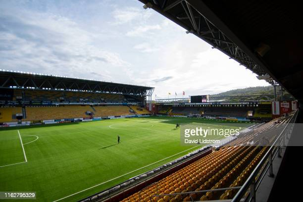 General view of Boras Arena ahead of the Allsvenskan match between IF Elfsborg and Ostersunds FK at Boras Arena on August 19, 2019 in Boras, Sweden.