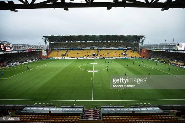 General View of Boras Arena before the Allsvenskan match between IF Elfsborg and Malmo FF at Boras Arena on April 18 2016 in Boras Sweden