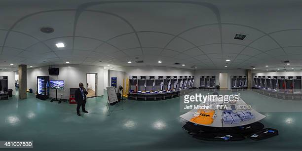 General view of Bosnia-Herzegovina dressing room before the 2014 FIFA World Cup Brazil Group F match between Nigeria v Bosnia-Herzegovina at Arena...
